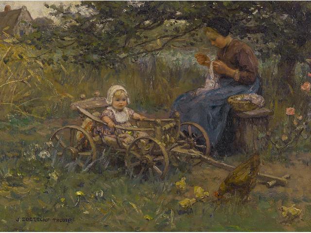 Jan Zoetelief Tromp (Dutch, 1872-1947) Springtime 14 x 19 1/2in (35.5 x 49.5cm)