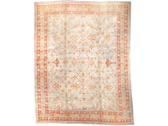 An Oushak carpet  West Anatolia size approximately 13ft. x 16ft. 7in.