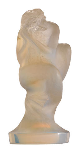 A fine and rare opalescent 'Sirène' by Réne Lalique, French, 1928, Approximate height 4 ins.