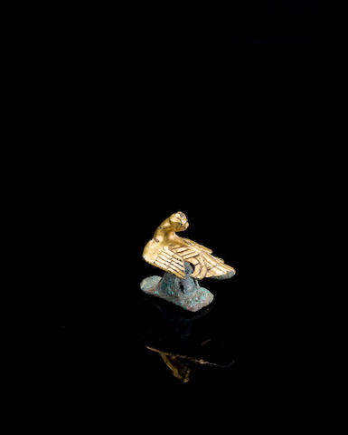A gilt bronze finial Han dynasty