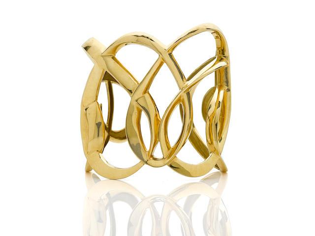 An 18k gold cuff bracelet, Tiffany & Co.
