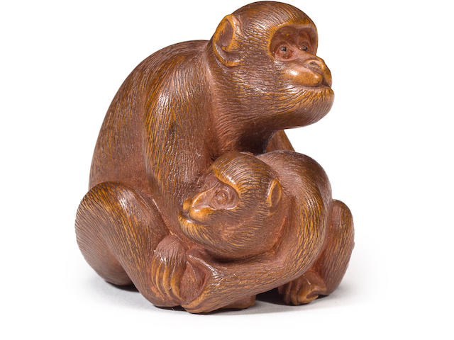 A set of eleven wood netsuke By Harumitsu of Ise, Edo period (19th century)
