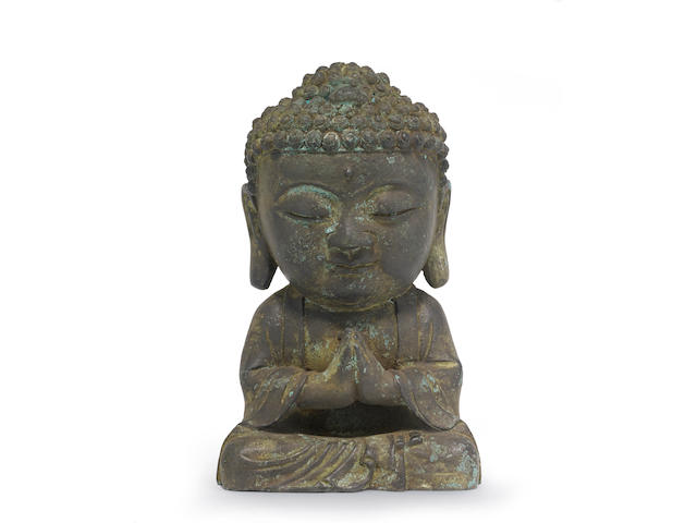 A bronze seated figure of the Buddha Joseon dynasty, 17th century
