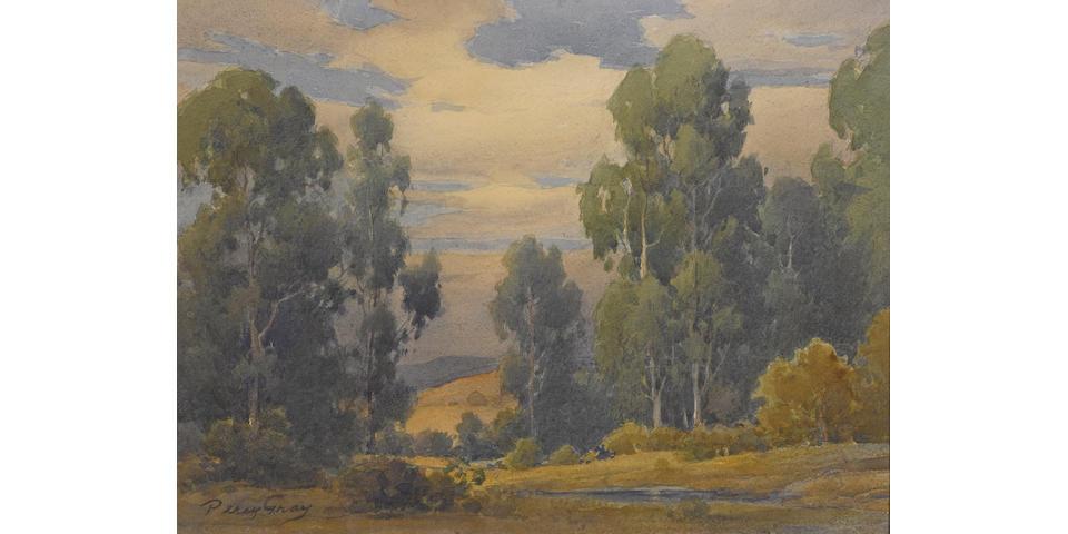 Percy Gray (1869-1952) Pastoral California 12 x 16in