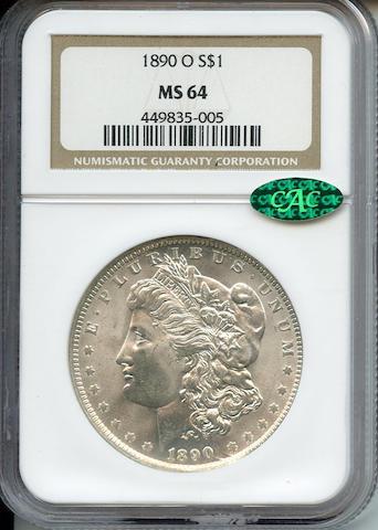 1890-O $1 MS64 NGC