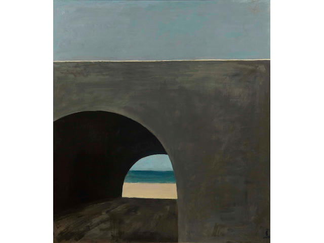 Roger Kuntz (1926-1975) Coast Highway Culvert, circa 1960 50 x 44 1/8 in. (127 x 112 cm)