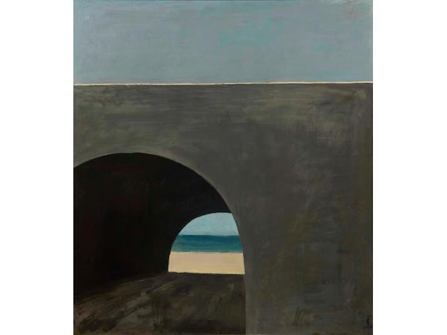 Roger Kuntz (1926-1975) Coast Highway Culvert, circa 1960 50 x 44 1/8 in. (127 x 112 cm)