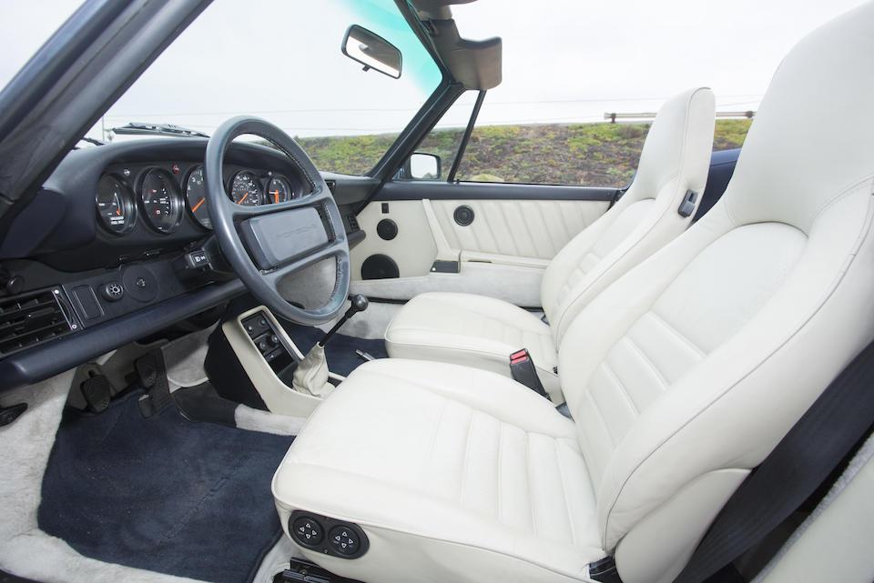 <b>1988 PORSCHE 911 CARRERA 3.2 CABRIOLET  </b><br />VIN. WP0EB0919JS171296 <br />Engine no. 64104750