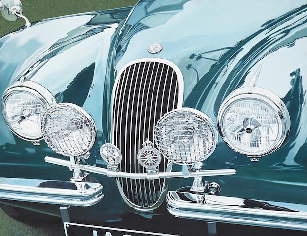 """Ernest Wrege: """"Jaguar XK120"""", 1989, 54½ x 42½ ins."""