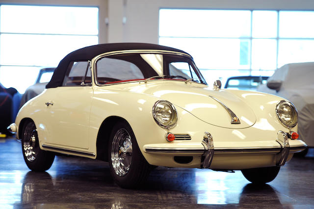 <i>Superb recent restoration</i><br /><b>1960 PORSCHE 356B 1600 CABRIOLET  </b><br />Chassis no. 154359 <br />Engine no. 804145