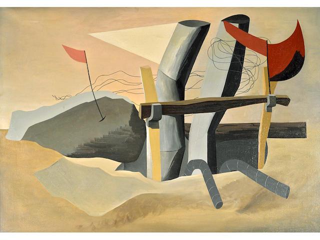 Charles Howard (1899-1978) Excavation, 1932  24 x 34 in. (61 x 86.4 cm)
