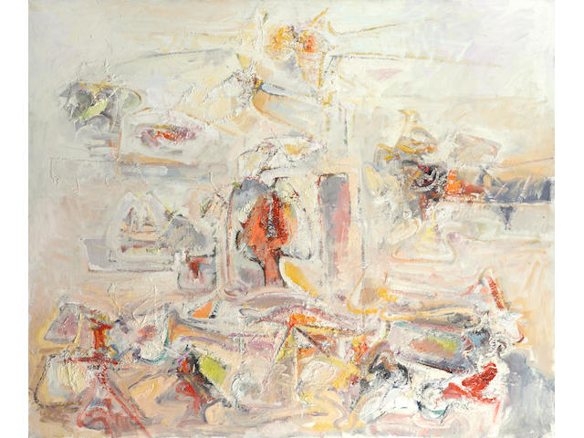Hans Gustav Burkhardt  (1904-1994) Shangrila, 1970 50 x 60 in. (127 x 152.4 cm)