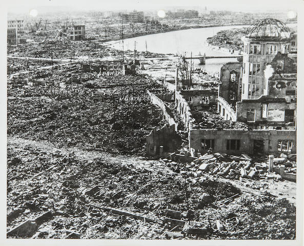 Photographs of the Destruction of Hiroshima, AEC, [mid to late September 1945] 8 x 10 in 10