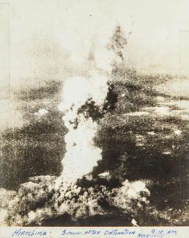 The Mushroom Cloud over Hiroshima, 6 August 1945 8 x 10 in (20 x 26 cm) 1