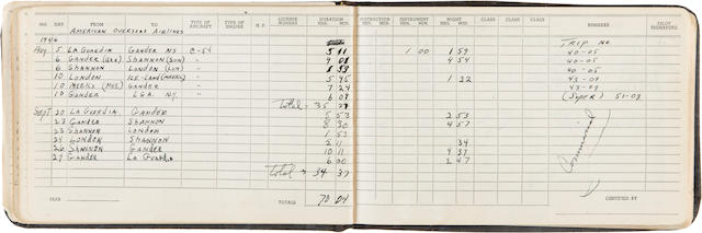 Manuscript Flight Logs of Captain Robert A. Lewis, co-pilot of the Enola Gay, 1942-1947 2