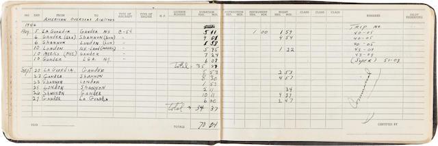 Manuscript Flight Logs of Captain Robert A. Lewis, co-pilot of the Enola Gay, 1942-1947 2