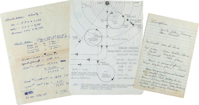 Manuscript Training Notes and mimeographed copies ofRobert A. Lewis' Bomb plan and Survival Maneuver,  [Tinian Island, late July and early August 1945] 3