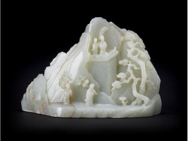 A white jade mountain  Late 19th/ Early 20th century