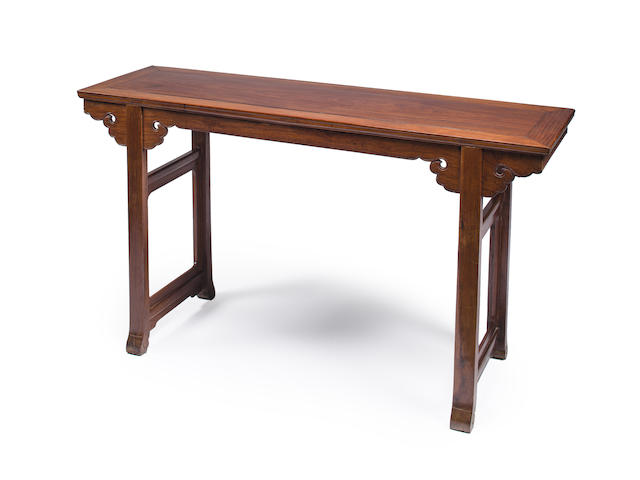 A Huanghuali altar table Late Qing dynasty