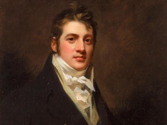 Sir Henry Raeburn RA (British, 1756-1823) Half-length Portrait of James Cochrane of Edinburgh 76.5 x 63.2 cm. (30 1/8 x 24 7/8 in.)