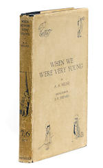MILNE, ALAN ALEXANDER. 1882-1956. When We Were Very Young.  London: Methuen & Co., [1924].