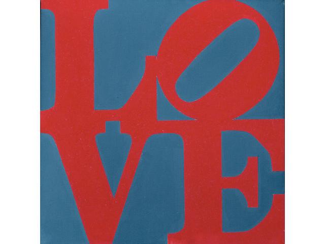 ROBERT INDIANA (b. 1928) LOVE, 1965