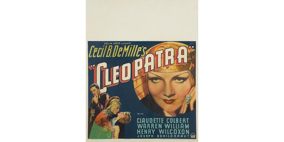 Cleopatra. Paramount, 1934. Jumbo window card poster.