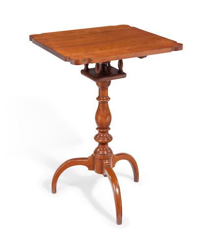 A Federal walnut tilt-top stand Pennsylvania, early 19th century