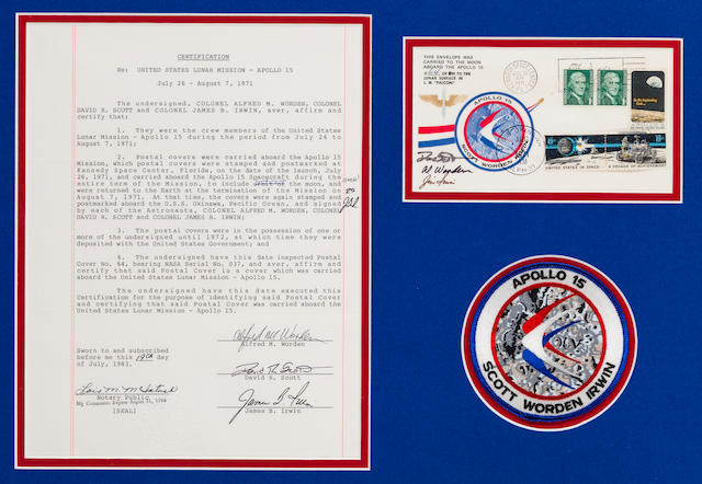 UNAUTHORIZED POSTAL ENVELOPE CARRIED TO THE LUNAR SURFACE ON APOLLO 15 NEVER APPROVED BY NASA BEFORE THE FLIGHT