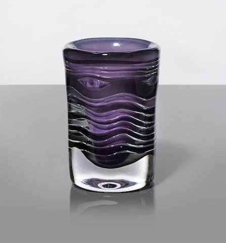 Ingeborg Lundin Ariel vasedesigned and executed circa 1970, for Orreforsglass, engraved 'Orrefors No.362L Ingeborg Lundin'height 7in (18cm); diameter 4 3/4in (12cm)