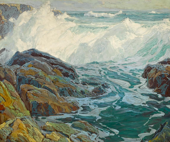 Edgar Payne (1883-1947) Laguna breakers 48 x 57in (overall: 56 x 65in)