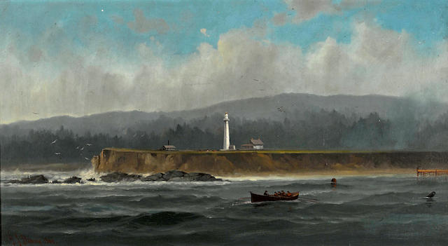 Gideon Jacques Denny (American, 1830-1886) Point Arena 20 x 36in overall: 29 1/2 x 45 1/2in (Painted in 1881)