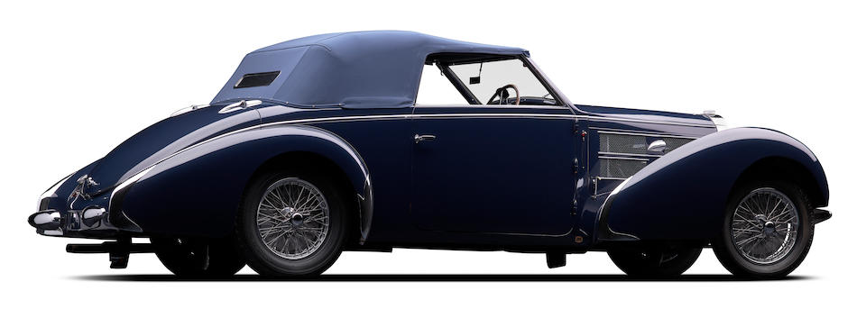 <b>1938 Bugatti Type 57C Stelvio Convertible  </b><br />Chassis no. 57748 <br />Engine no. C51 (see text)