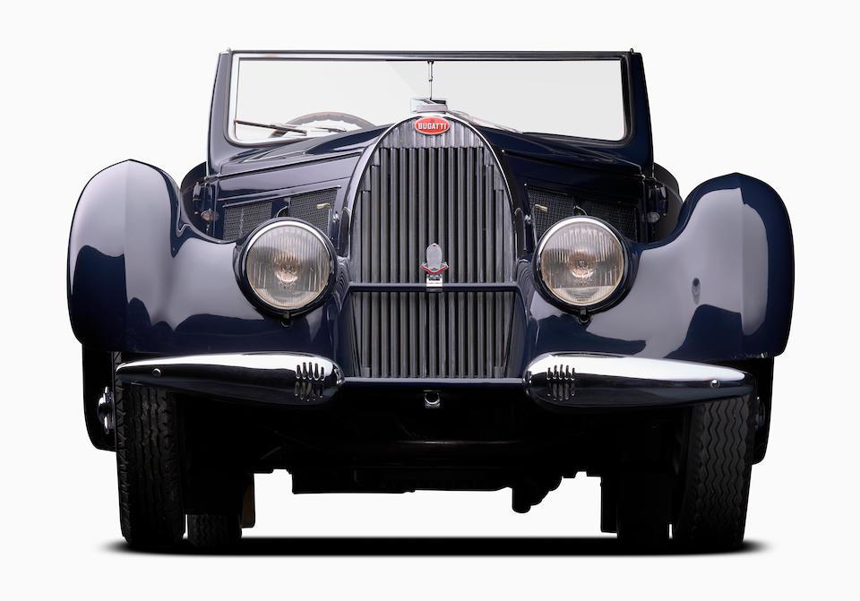 <b>1938 Bugatti Type 57C Stelvio Convertible  </b><br />Chassis no. 57748 <br />Engine no. C51 (see text)