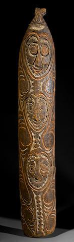 War Shield, Probably Yuat River, Lower Sepik Area, Papua New Guinea