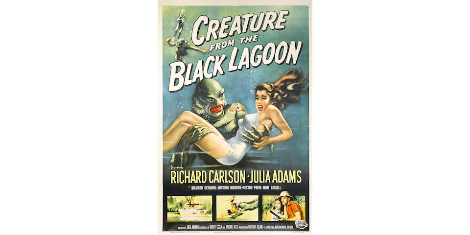 Creature from the Black Lagoon. Universal, 1954. One sheet poster.