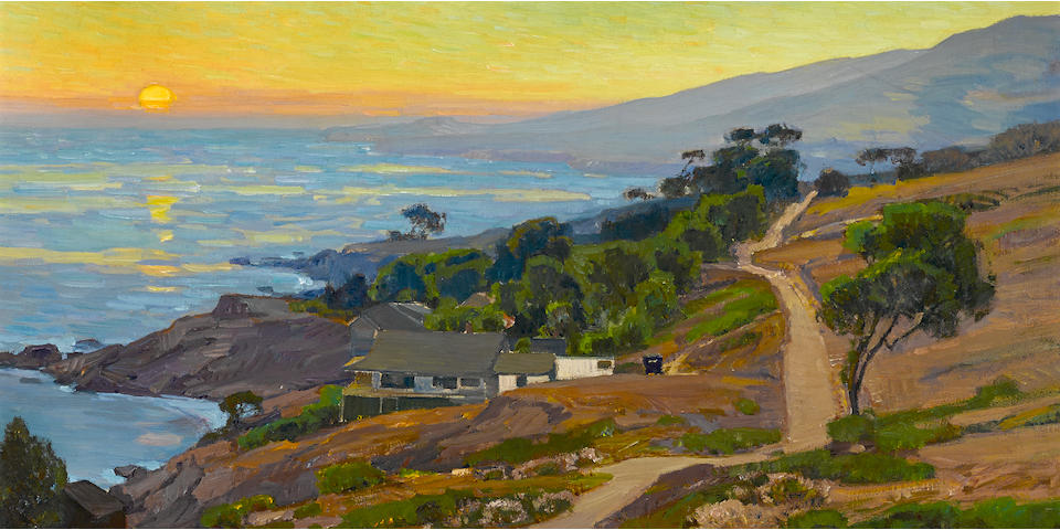 William Wendt (American, 1865-1946) Old Coast Road 30 x 36in overall: 35 1/2 x 41in (Painted circa 1916)