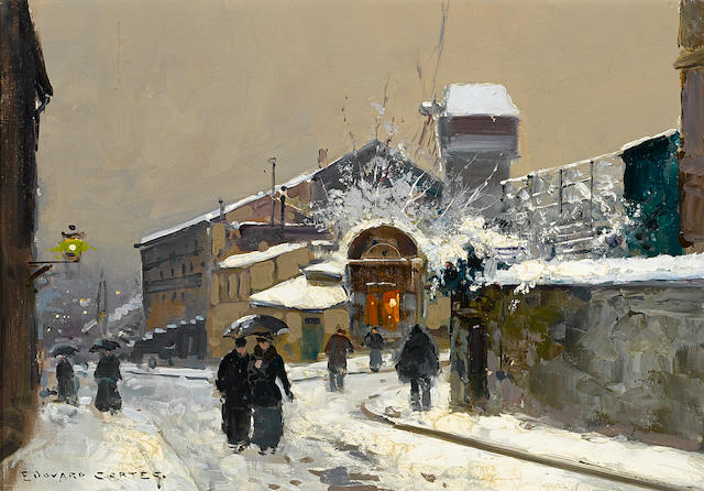 Edouard Henri Leon Cortès (French, 1882-1969) Le Moulin de la Galette 12 3/4 x 17 3/4in (32.4 x 45.1cm)