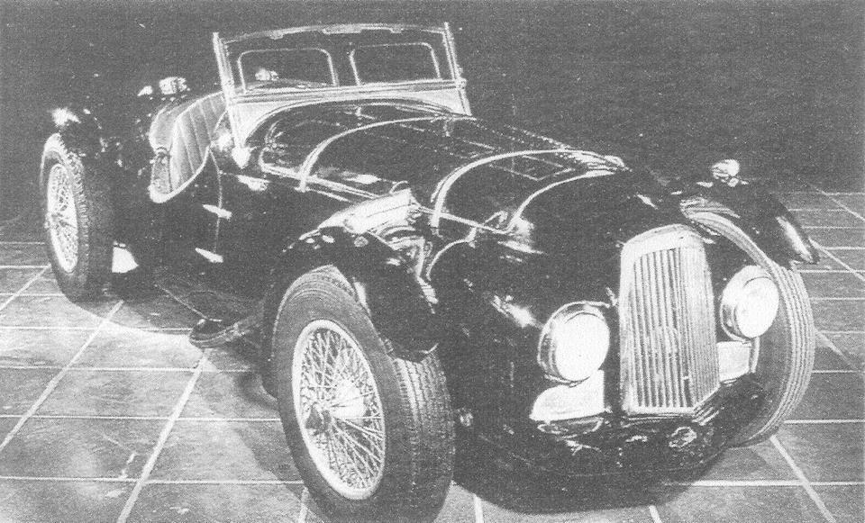 24 Hours of SPA Winning and London Motor Show,1948 ASTON MARTIN 2-LITRE WORKS TEAM CAR  Chassis no. SPA/48/8 (previously LMA/48/1) Engine no. SPA4/48/8 (previously SPA/48/1)UK Registration no. THX 259 (on retention)