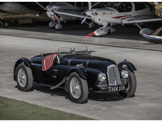 <i>The Spa 24 Hours Winning<br />London Motor Show</i><br /><b>1948 Aston Martin 2-Litre Works Team Car</b>
