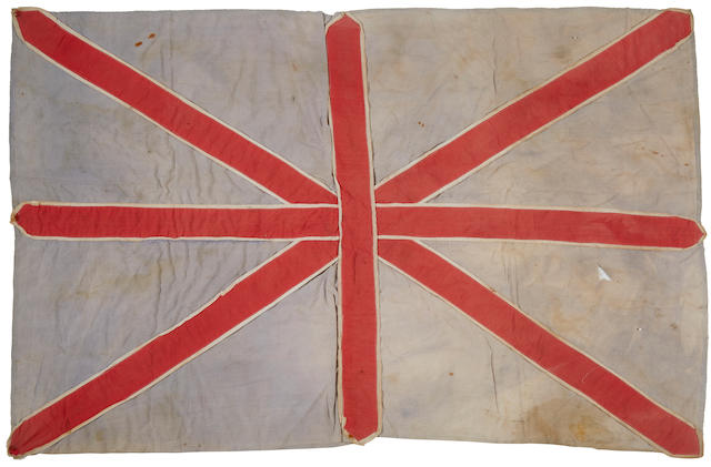 """D-Day, JUNE 6 1945: A """"UNION JACK"""" Liberation Flag, flown from a window of a house in St Aubin-Sur-Mer, NORMANDY 23 x 35in (59 x 89cm)"""