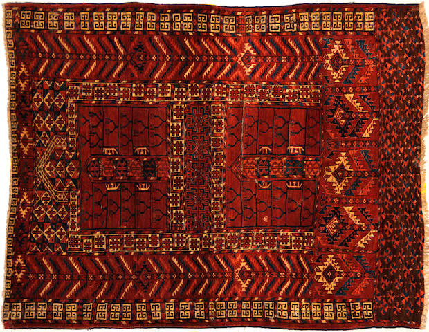 A Tekke rug  size approximately 4ft. x 4ft. 10in.
