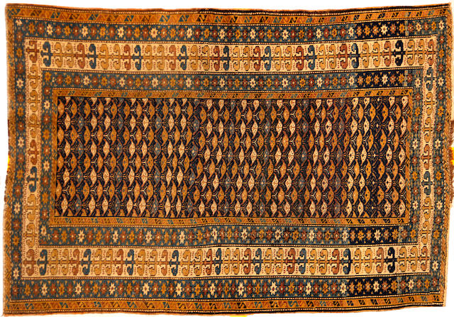 A Kuba rug size approximately 3ft. 6in. x 5ft. 2in.