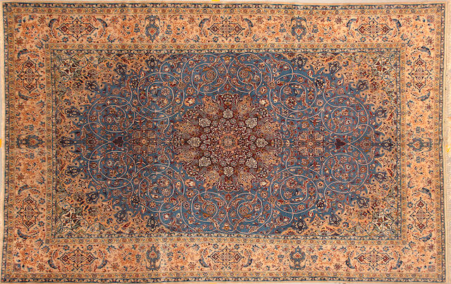 An Isphahan carpet size approximately 6ft. 9in. x 10ft. 7in.