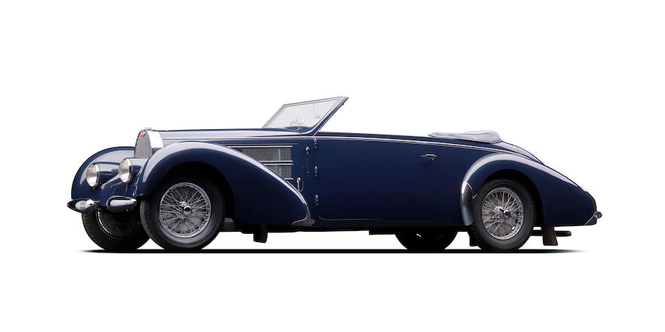 The ex-Miles Coverdale,1938 Bugatti Type 57C Convertible  Chassis no. 57748