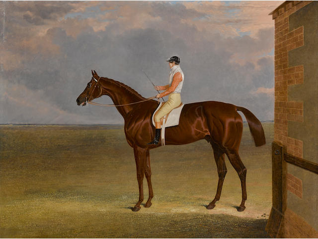John Frederick Herring, Snr. (British, 1795-1865) Mr. Sadler's 'Dangerous', winner of the 1833 Derby 28 x 36in (71.1 x 91.4cm)