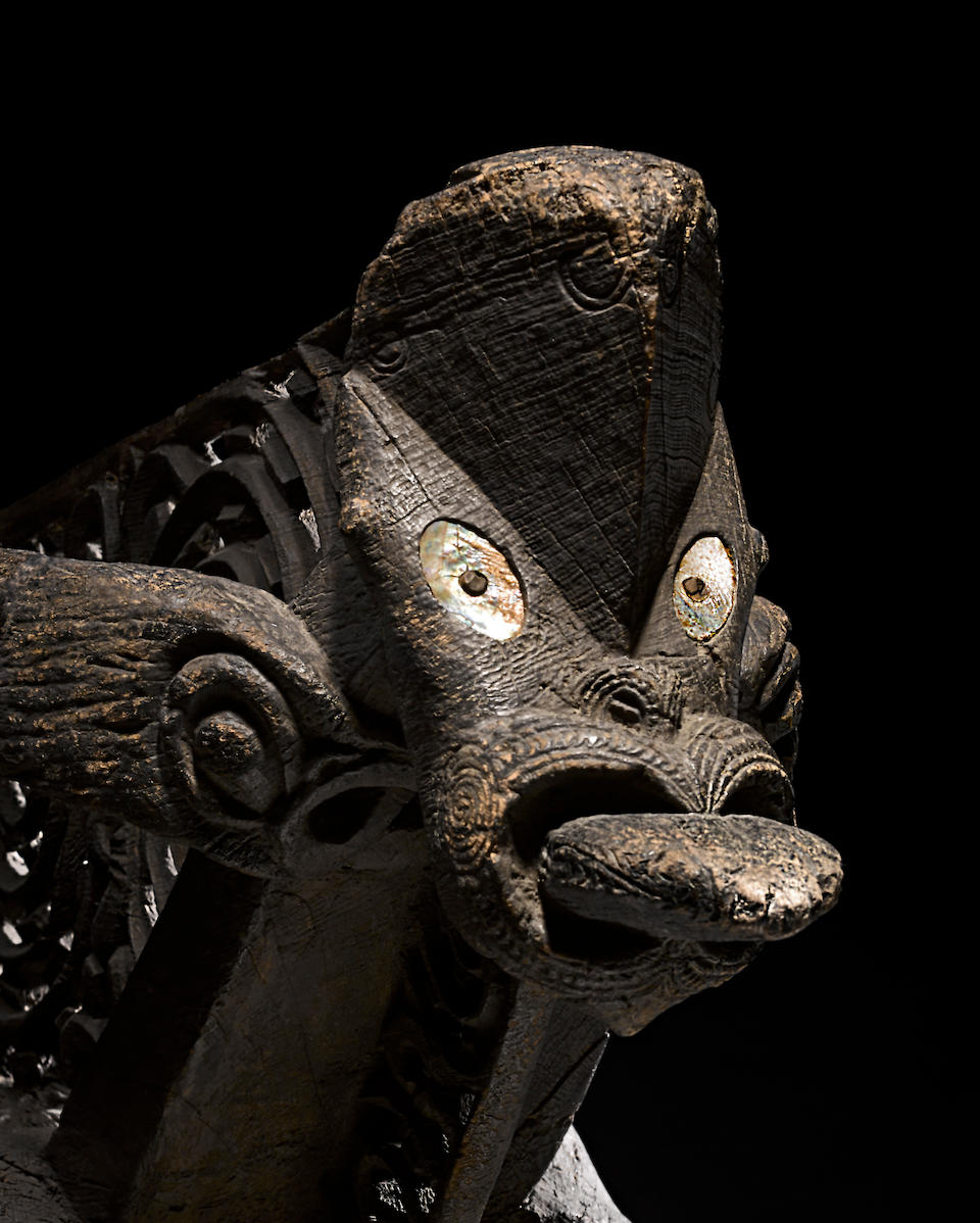 Exceptional and Rare Maori Canoe Prow, New Zealand