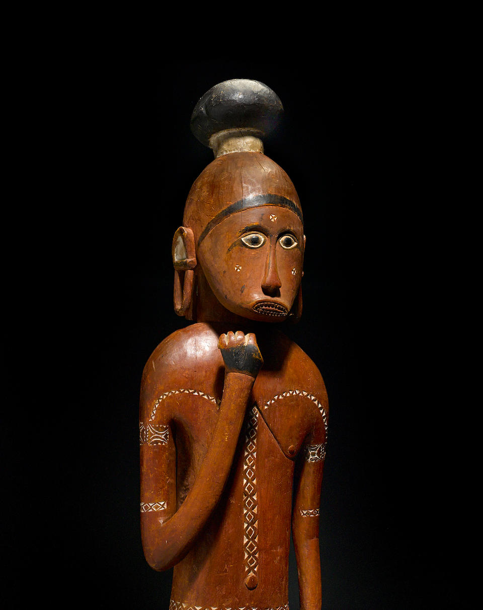 Important and Rare Large Standing Male Figure, Admiralty Island