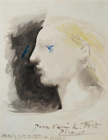 Bonhams : PABLO PICASSO (1881-1973) Marie-Thérèse de profil