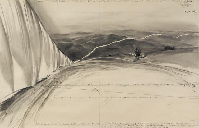 CHRISTO (b. 1935) Running Fence (Project for Sonoma County and Marin County, State of California), 1974